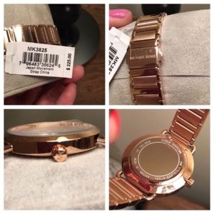 Michael Kors Accessories - ⬇️$139 NWT Michael Kors Rose Gold Watch Hearts